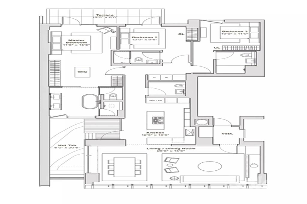 固安孔雀城-现代简约-146.5平米装修设计理念