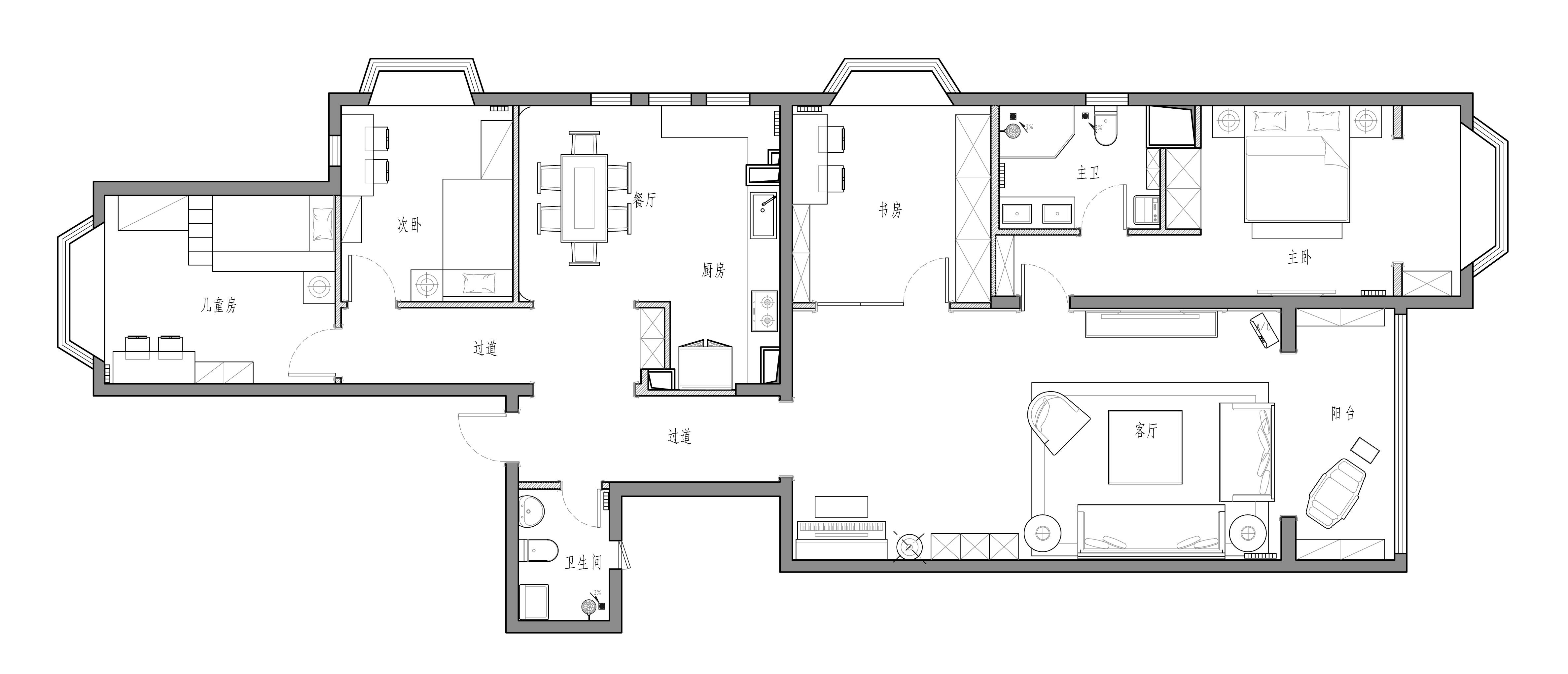 青芷园小区-137平米-现代简约装修设计理念