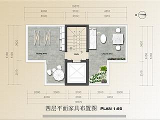 百家湖别墅花园202平新中式风格户型解析