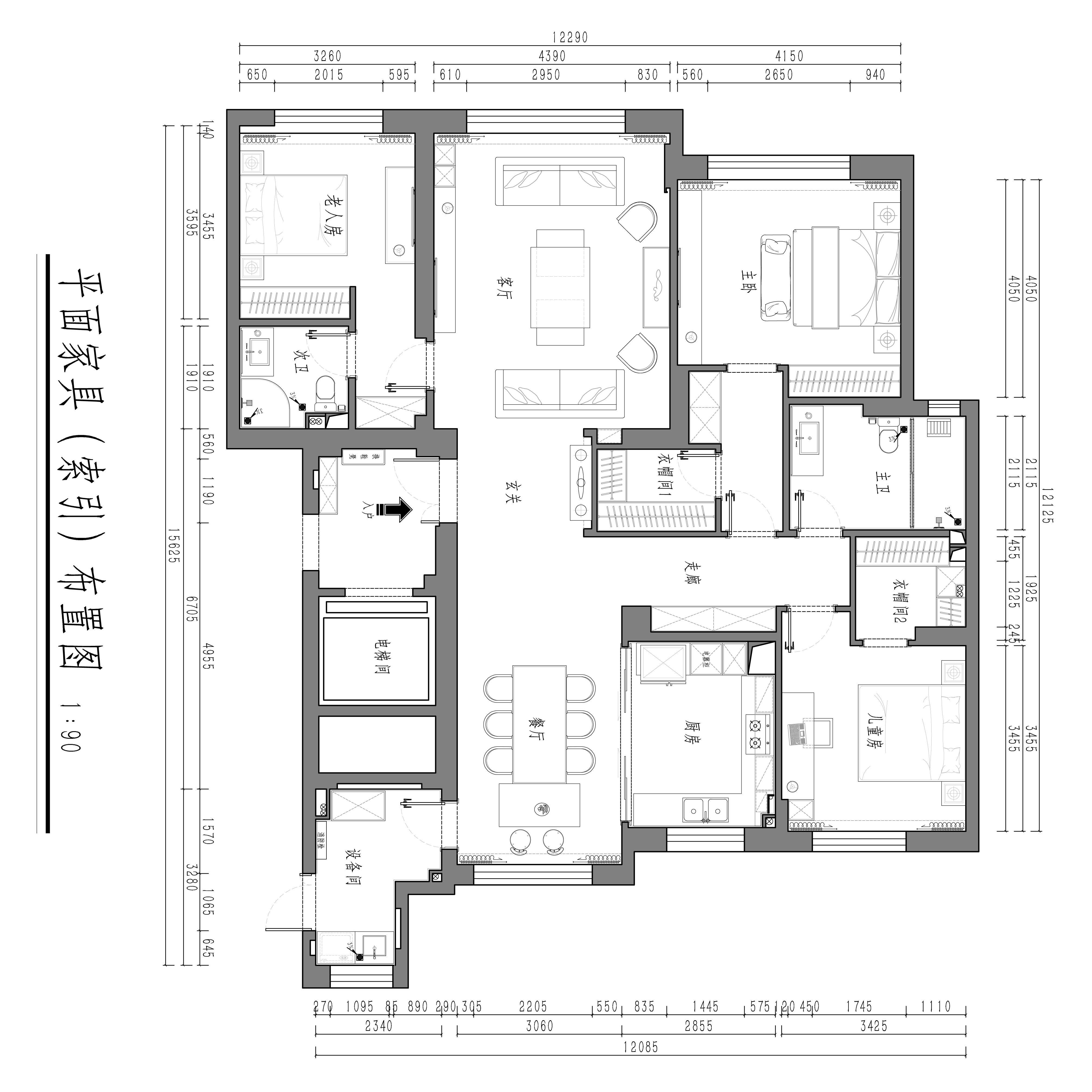 紫御东方现代简约装修效果图-197平装修设计理念