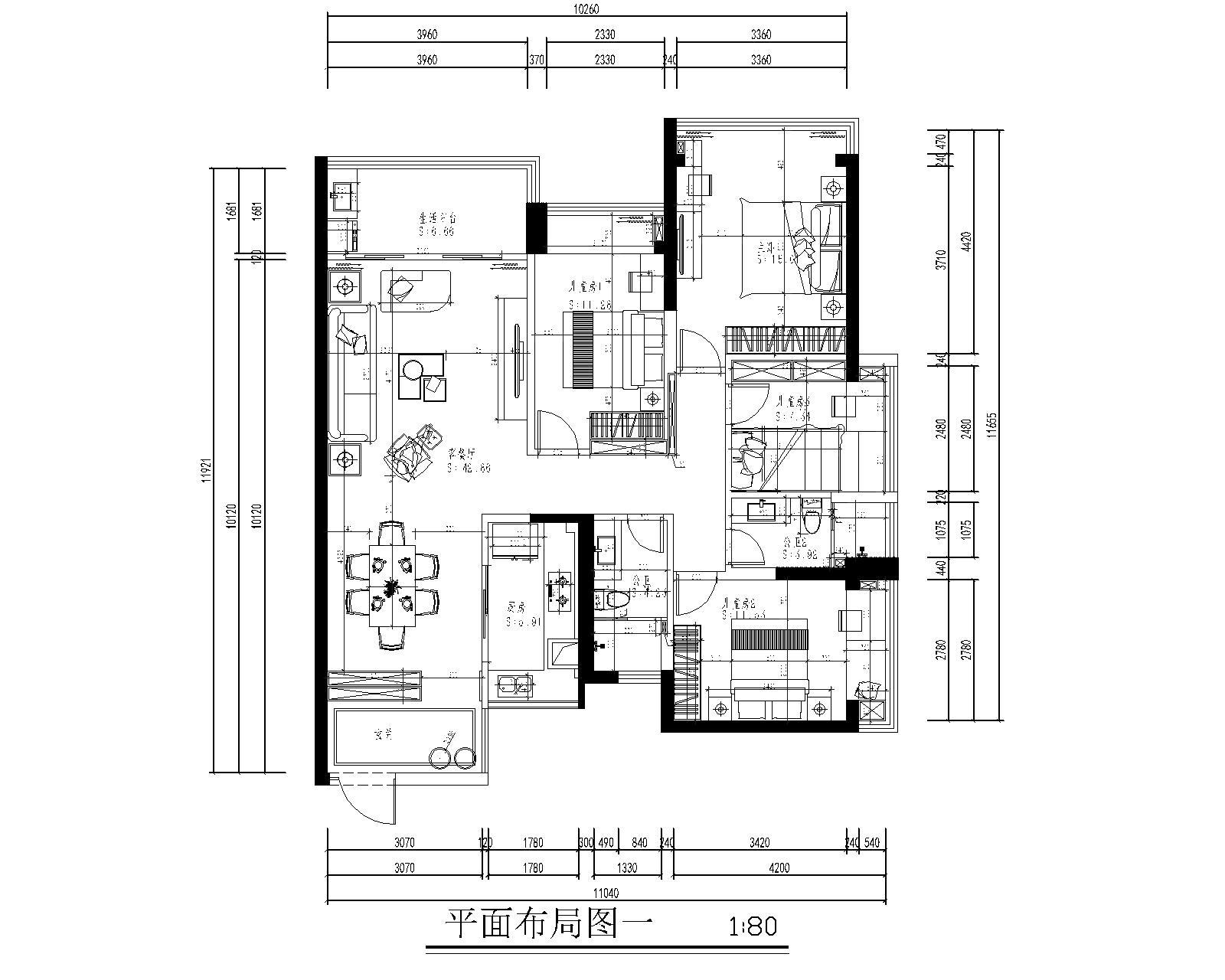 合正汇一城-138平米现代欧式轻奢-装修设计效果图装修设计理念