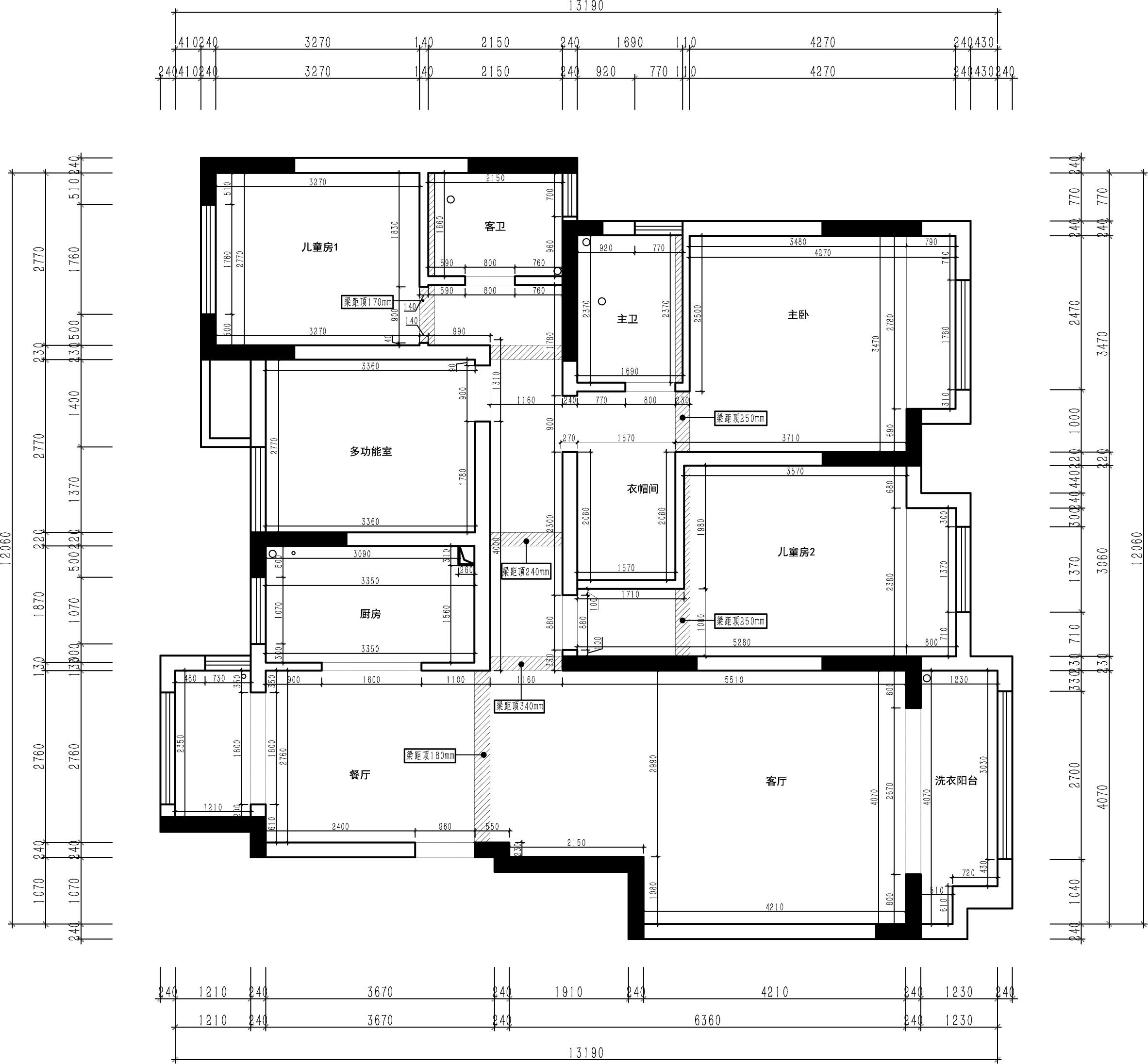 中海锦苑现代简约风格140㎡平层装修设计理念