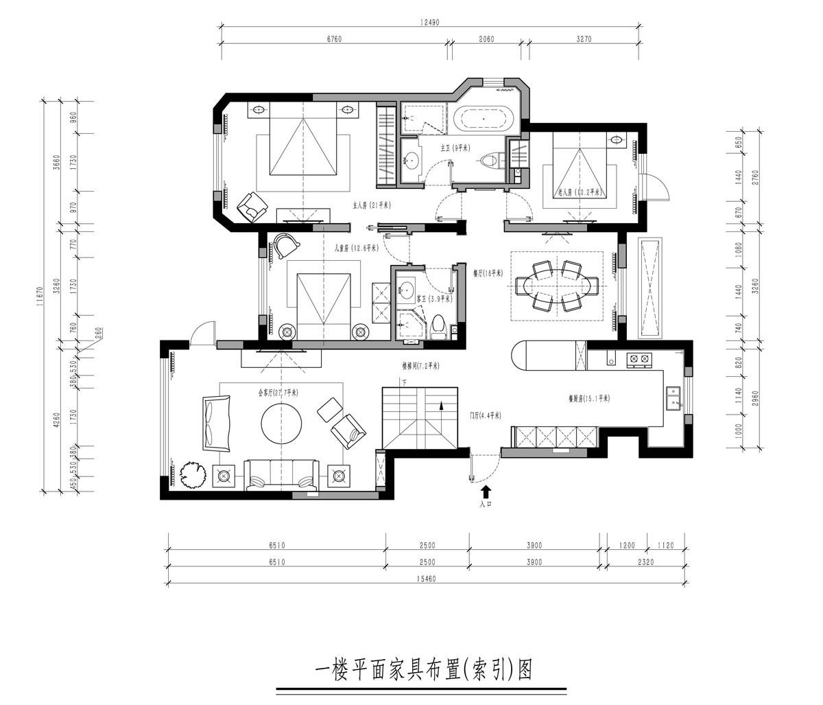 浑南金地檀府360平欧式风格效果图装修设计理念