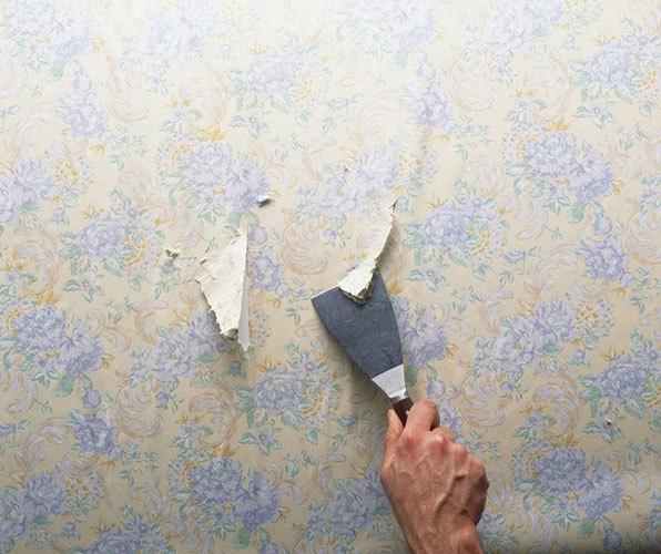 清洗墙面残留的胶水或底漆