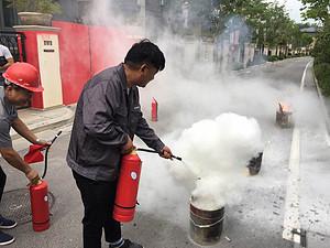 安全第一,消防演习