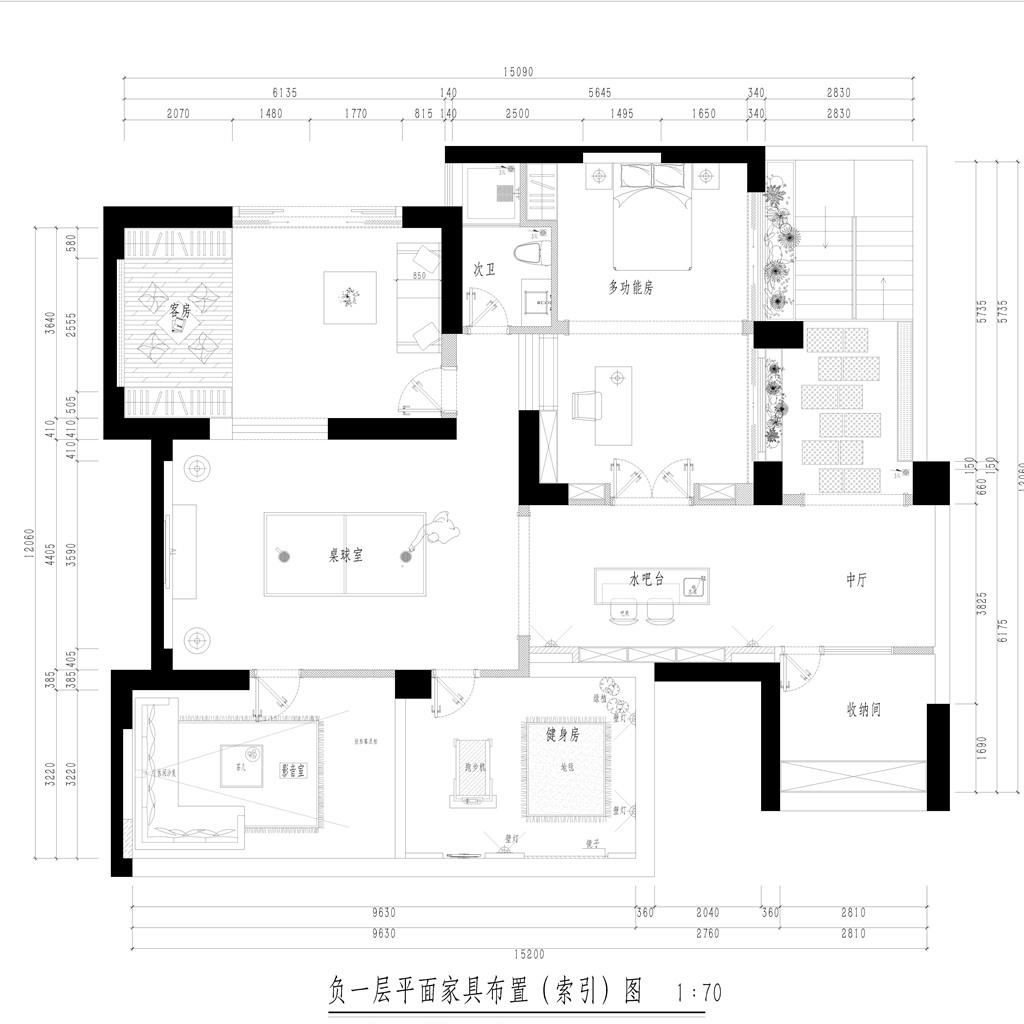 东城天骄御峰-400㎡简欧复式装修效果图装修设计理念