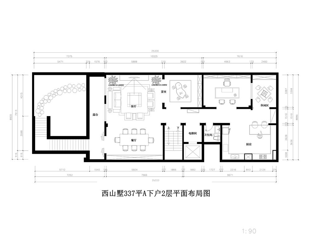 西山墅-现代风格-337㎡装修设计理念