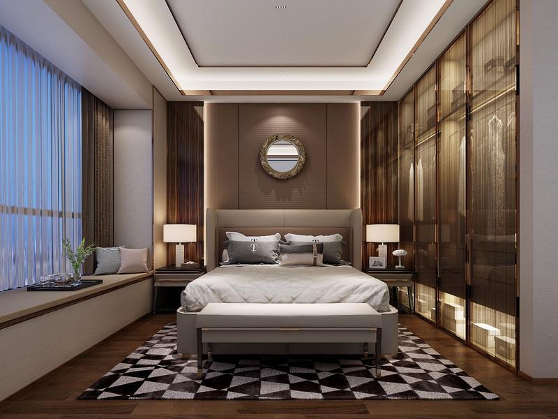 现代极简设计卧室