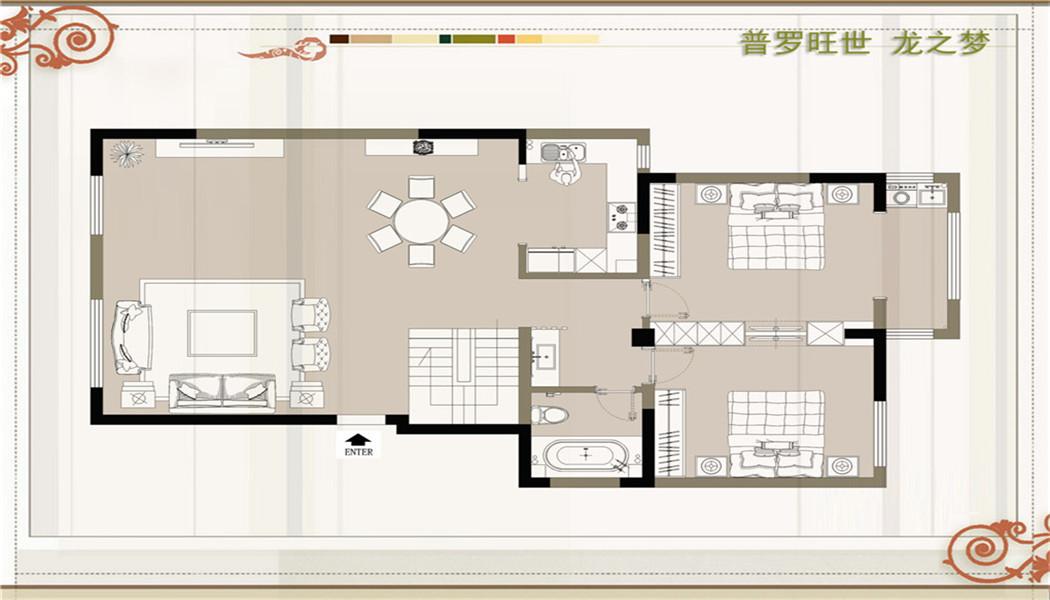 龙之梦美式风格210平复式装修设计理念