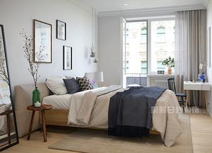 深圳139平米北欧风格装修图片,质朴三居室带来清凉感