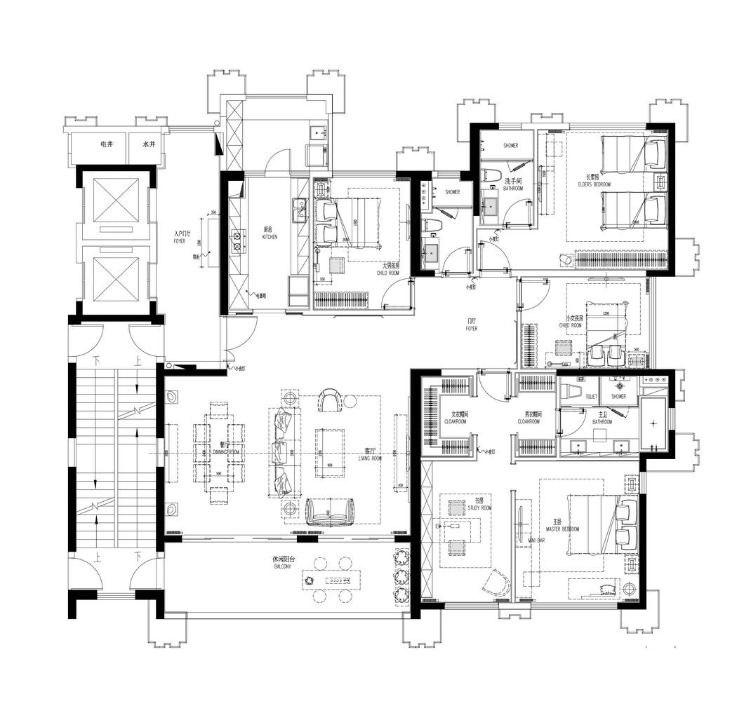 黄寺大街-165平米-现代轻奢装修设计理念