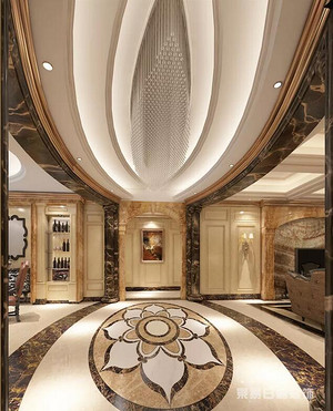 佛山别墅装修设计风采,大户型欧式古典风别墅装修设计