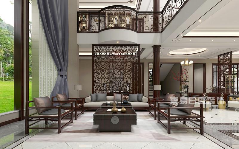 新中式别墅装修效果图2