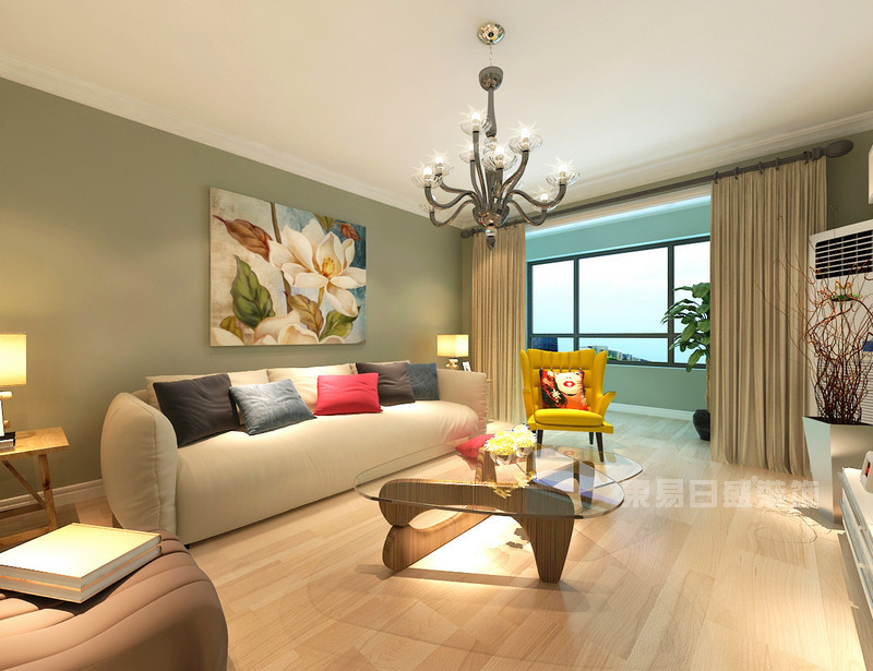 70平米房子客厅装修效果图_现代风格