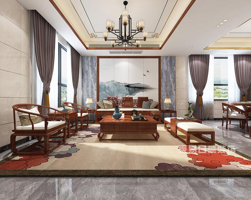 新中式别墅装修效果图4