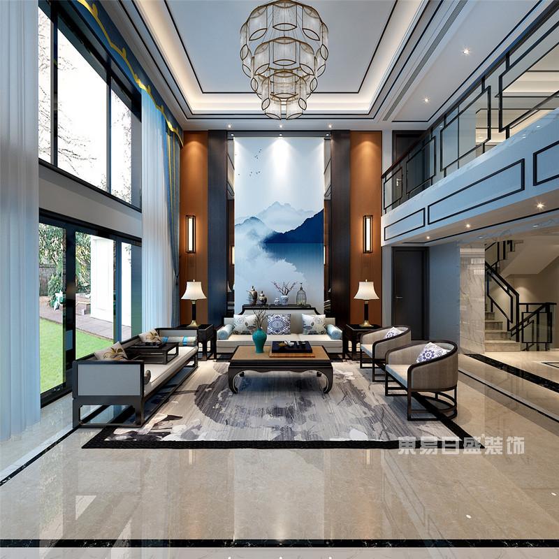 新中式别墅装修效果图5