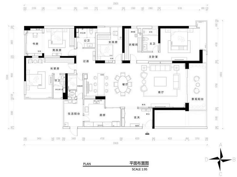 纯水岸房子装修平面设计图