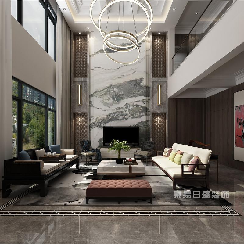新中式别墅装修效果图6