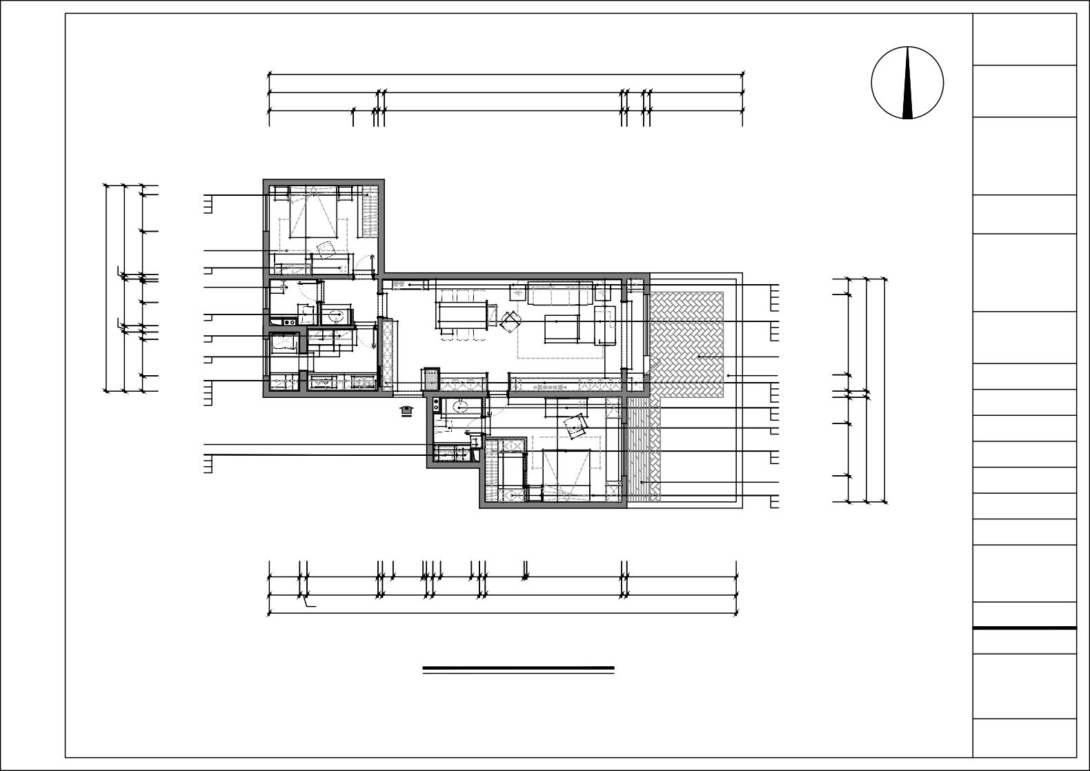 宫荣-100平米-新中式风格装修设计理念