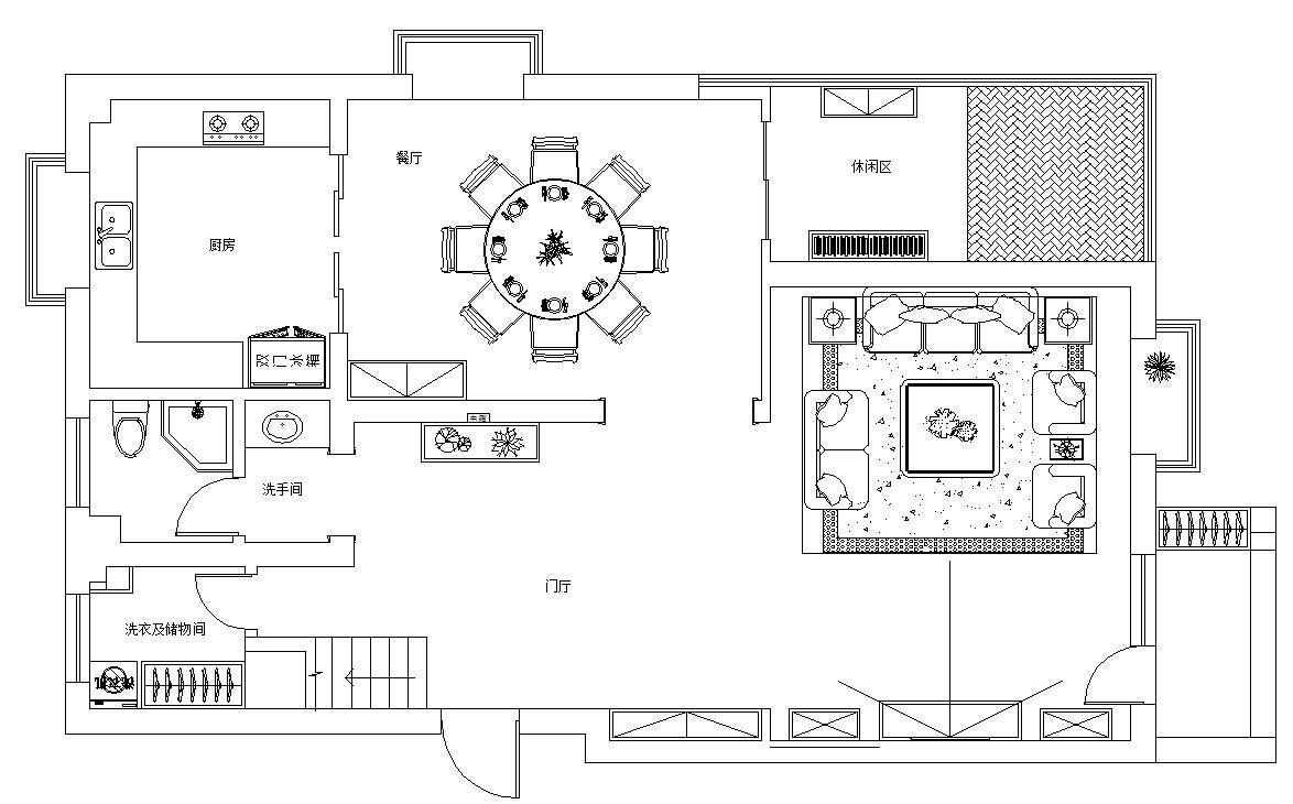 招商公园1872新中式风格230平米复式楼装修效果图装修设计理念