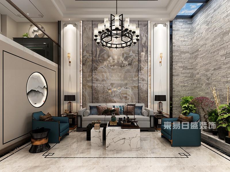 新中式别墅装修效果图10