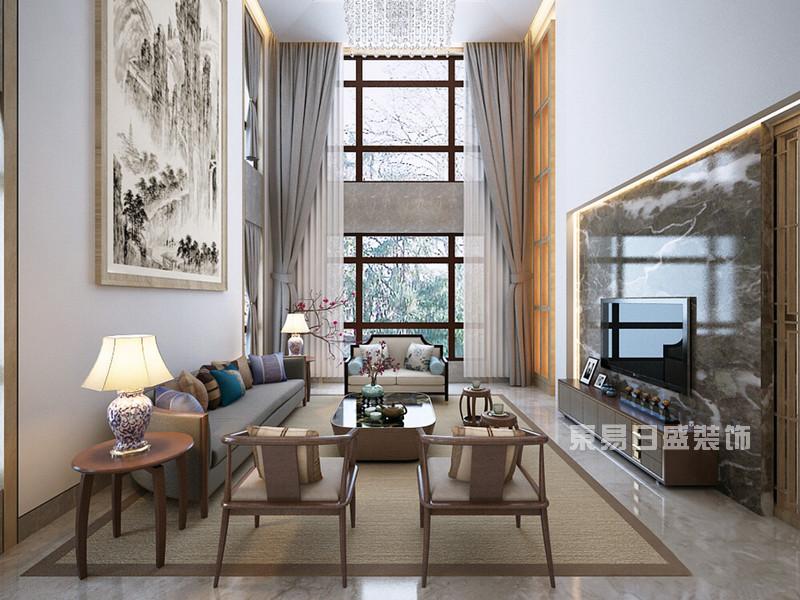 新中式别墅装修效果图11