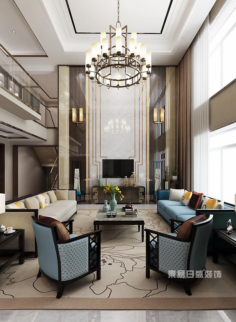 新中式别墅装修效果图12