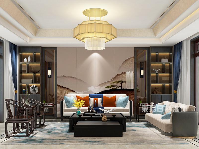 新中式别墅装修效果图17