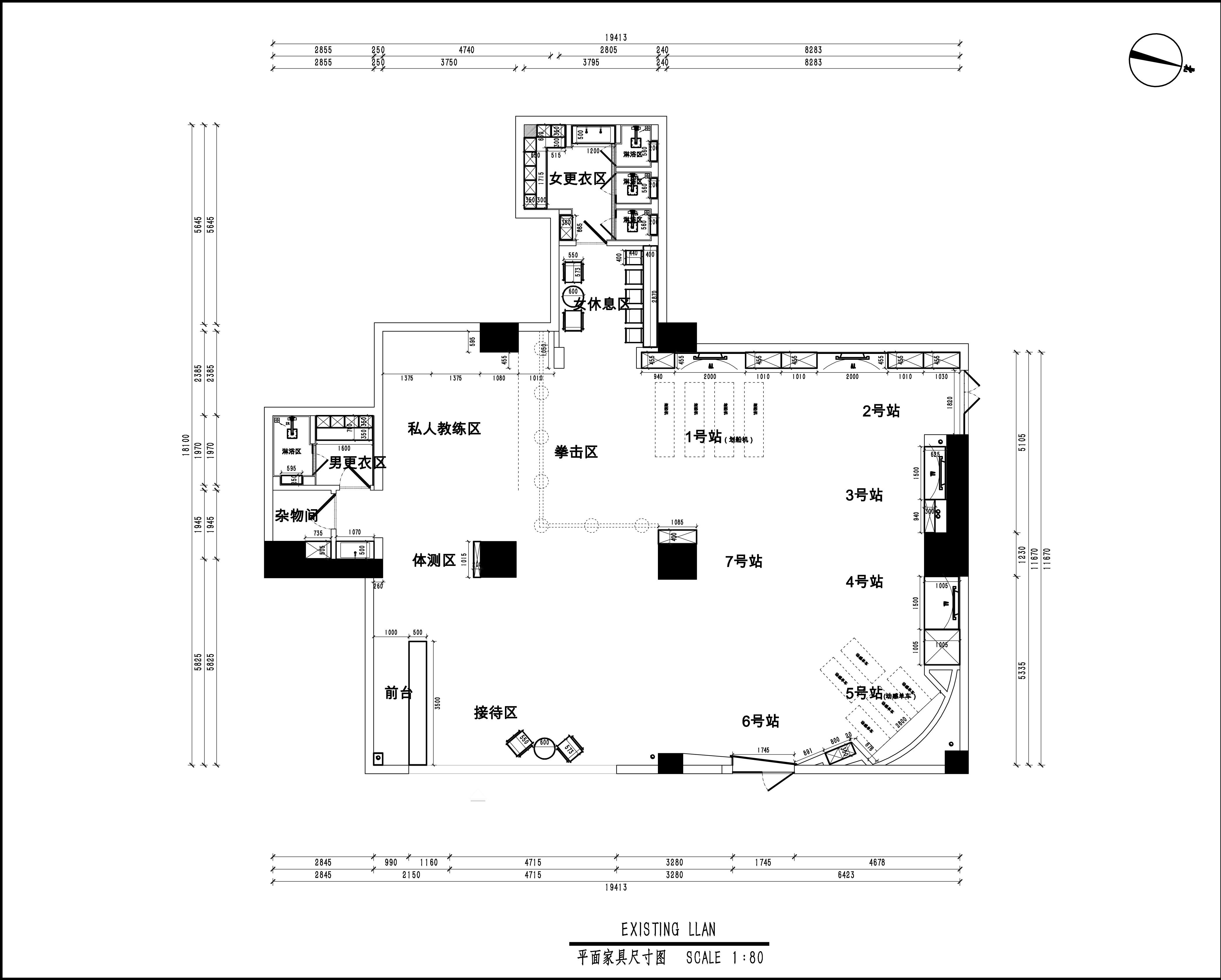 深圳市南光花园 248平米 现代风格 健身房装修效果图装修设计理念