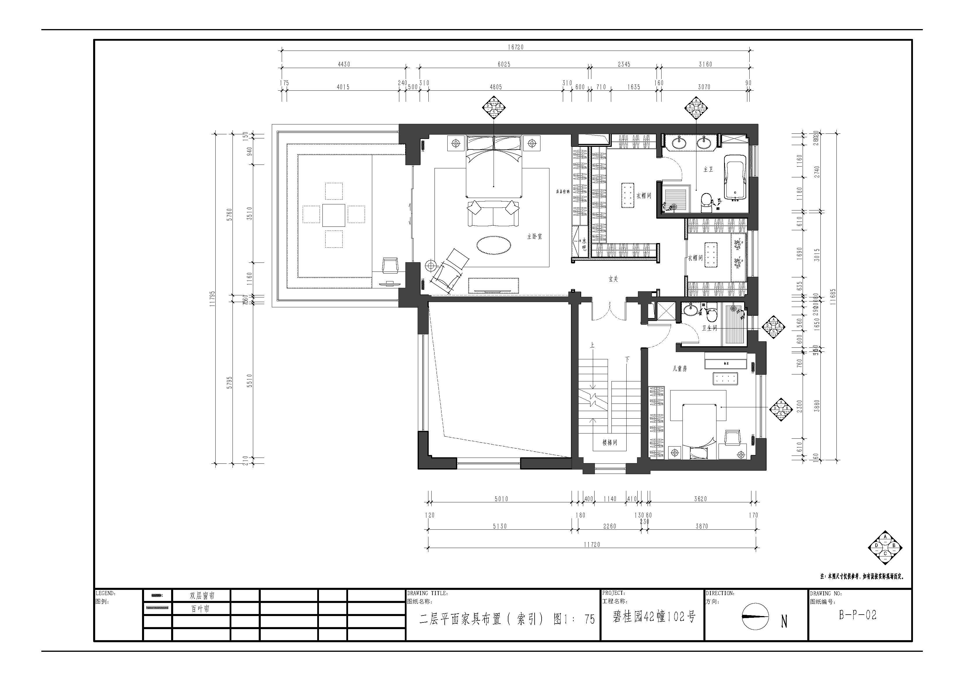 融创玫瑰园-260平米-美式风格装修案例效果图装修设计理念