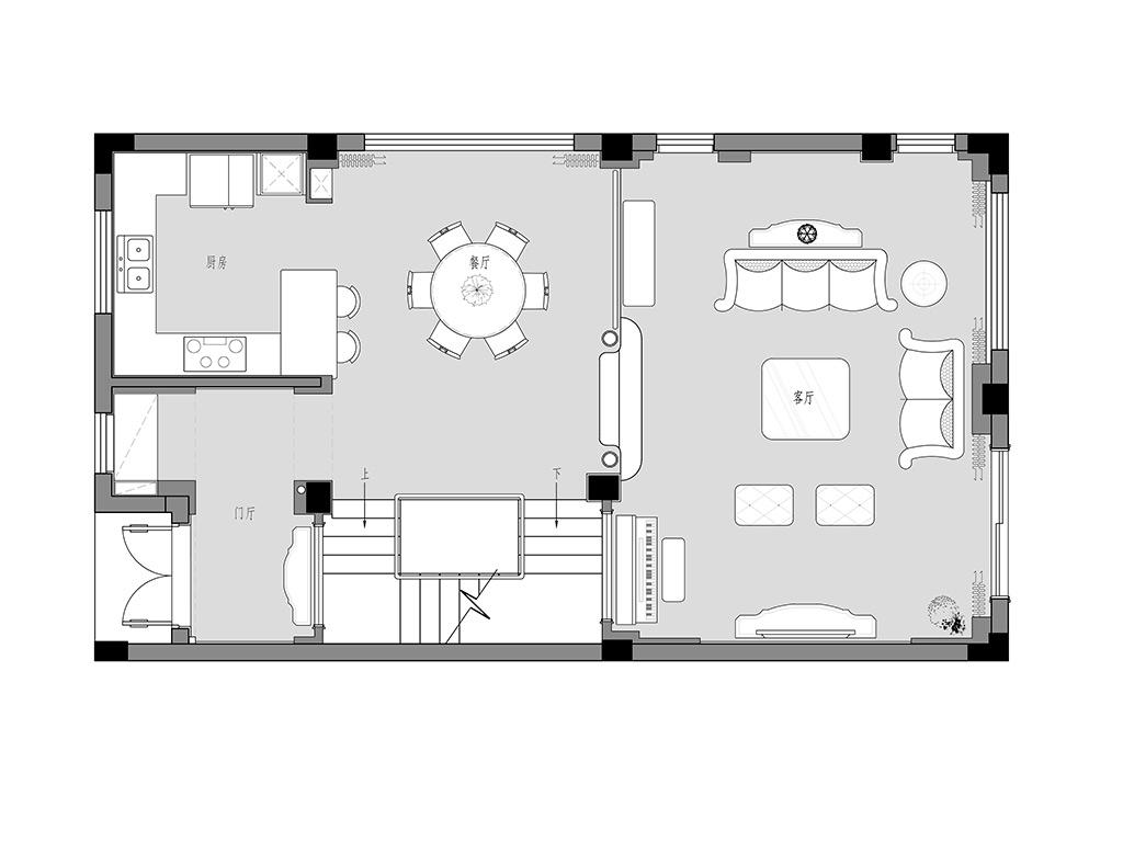 博园岚郡450㎡别墅简欧装修设计理念
