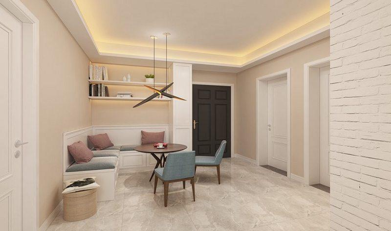 武汉室内装修预算报价,50平米大概多少钱?普遍意义上来说,各个家庭的室内装修预算会因户型与面积不同而不同,例如面积在30-50平米的小户型,预算大概为3-7万。接下来,小易向大家介绍这种类型的家庭装修具体需要花费哪些花销?以30-50平大小的现代简约风格一室一厅为例子。  一、材料部分 1、木地板使用仿实木,费用按照平米计算,如果要与地面找平,可以使用自流平水泥或者地宝。