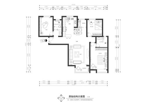 永威五月花城新中式145平三居室装修设计理念