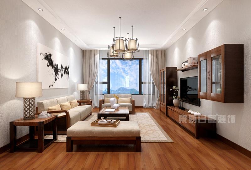 客厅 地板_南海玫瑰园120平米-现代简约