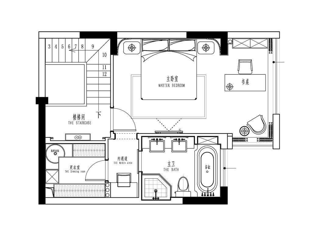 香缇国际153平港式轻奢风装修设计效果图装修设计理念