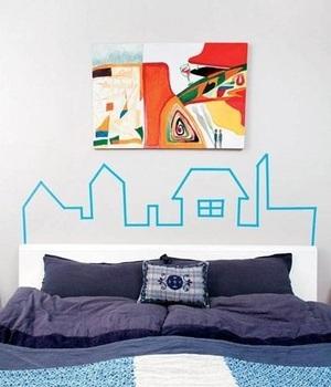 彩色胶带家居装饰攻略,彩色胶带也能带来靓丽家居
