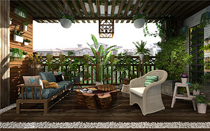 广州别墅装修花园阳台怎样设计好?