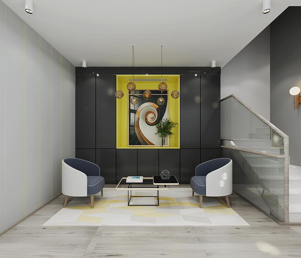 湾流1(5室5卫3厅1厨)简约风格装修效果图 340平米 设计师宋素雁装修设计理念