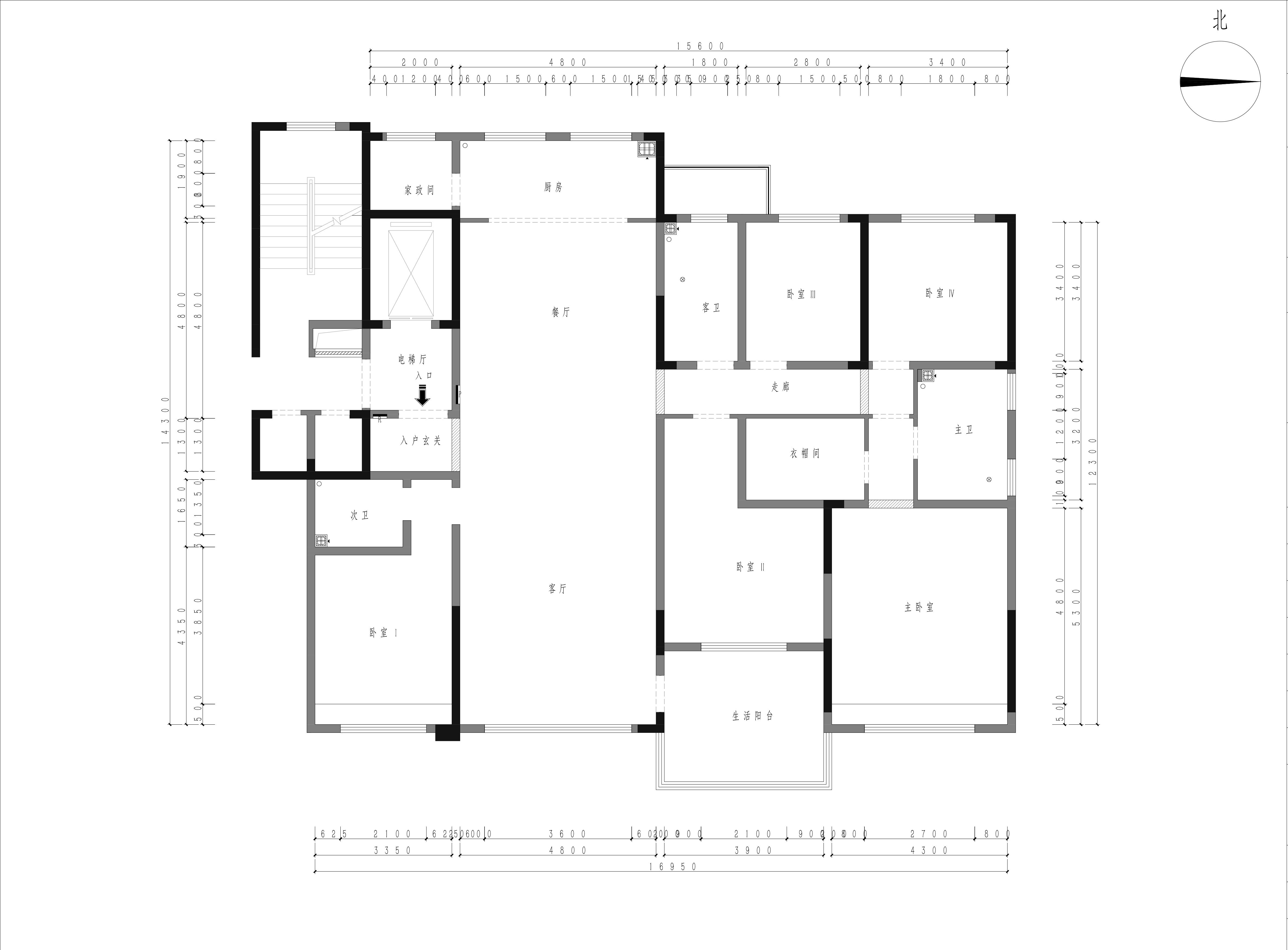 盛隆悦府 226m/2策划案例 现代简约装潢成果图装潢策划愿景