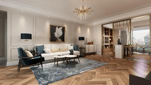 蓝堡公寓-200㎡-简美风格-户型解析