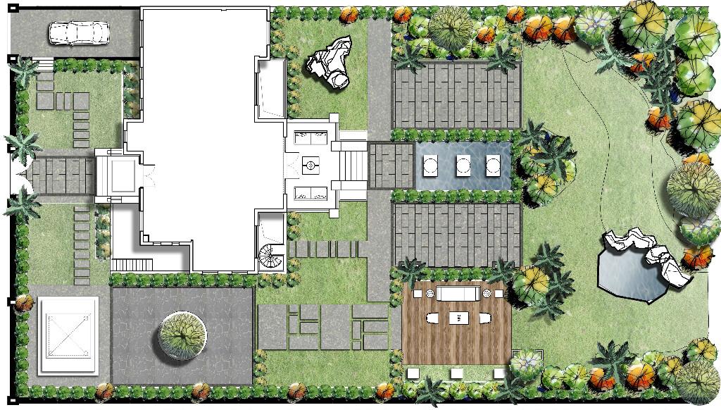 太阳湖大花园-现代简约-488㎡装修案例装修设计理念