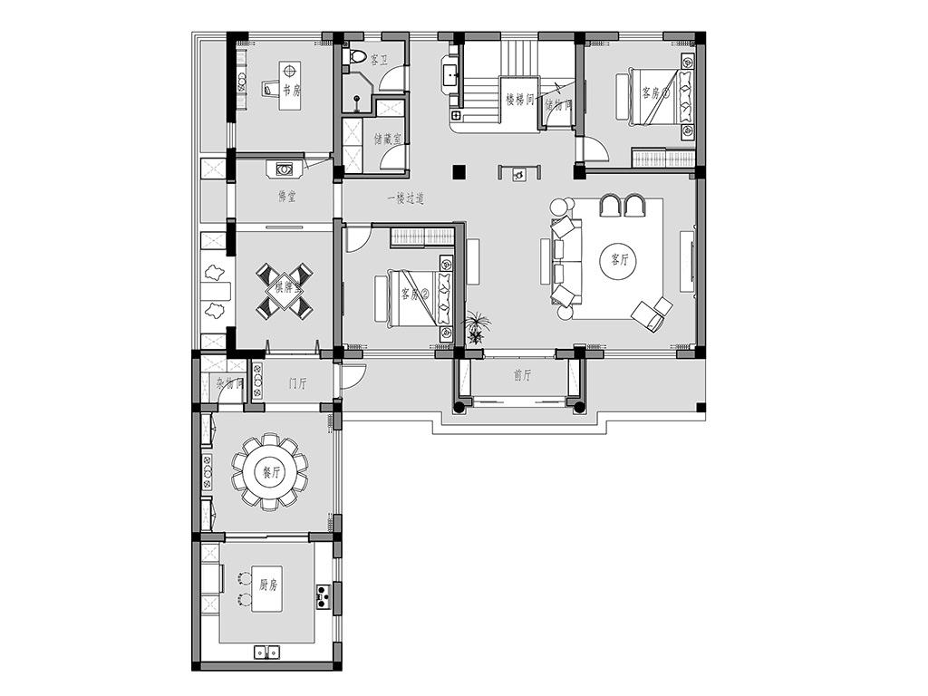 海安自建别墅500平现代简约装修设计理念
