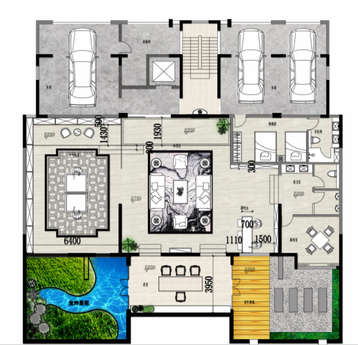 黄台湖别墅-新中式风格-450平米装修设计理念