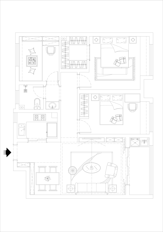 衢州公馆-125m²-现代装修设计理念