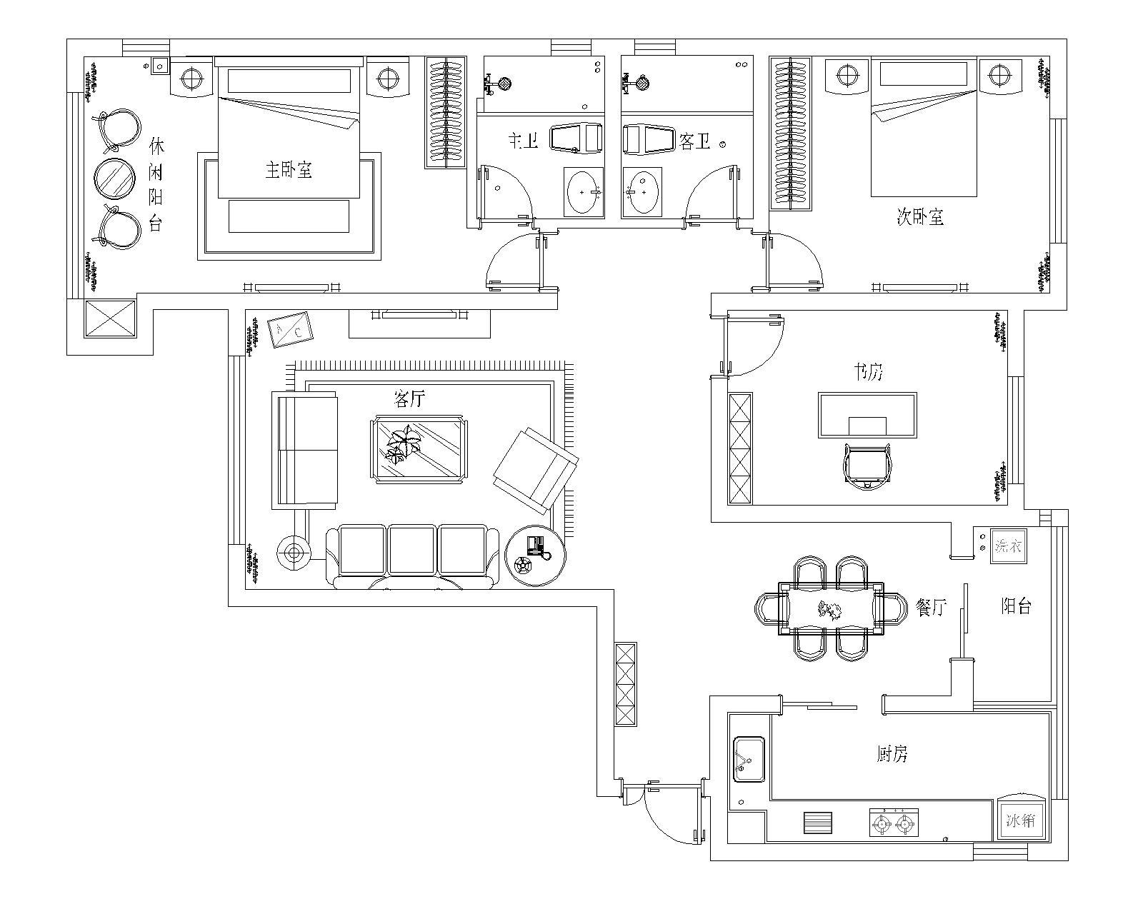 金林公馆新中式175平三居室装修设计理念