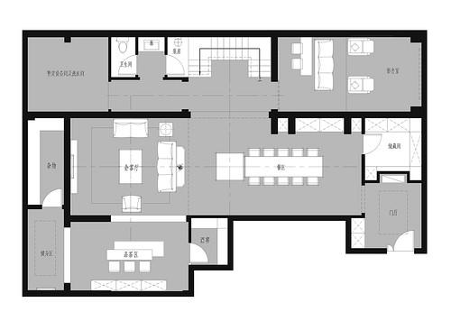 金地名悦460现代风格效果图装修设计理念