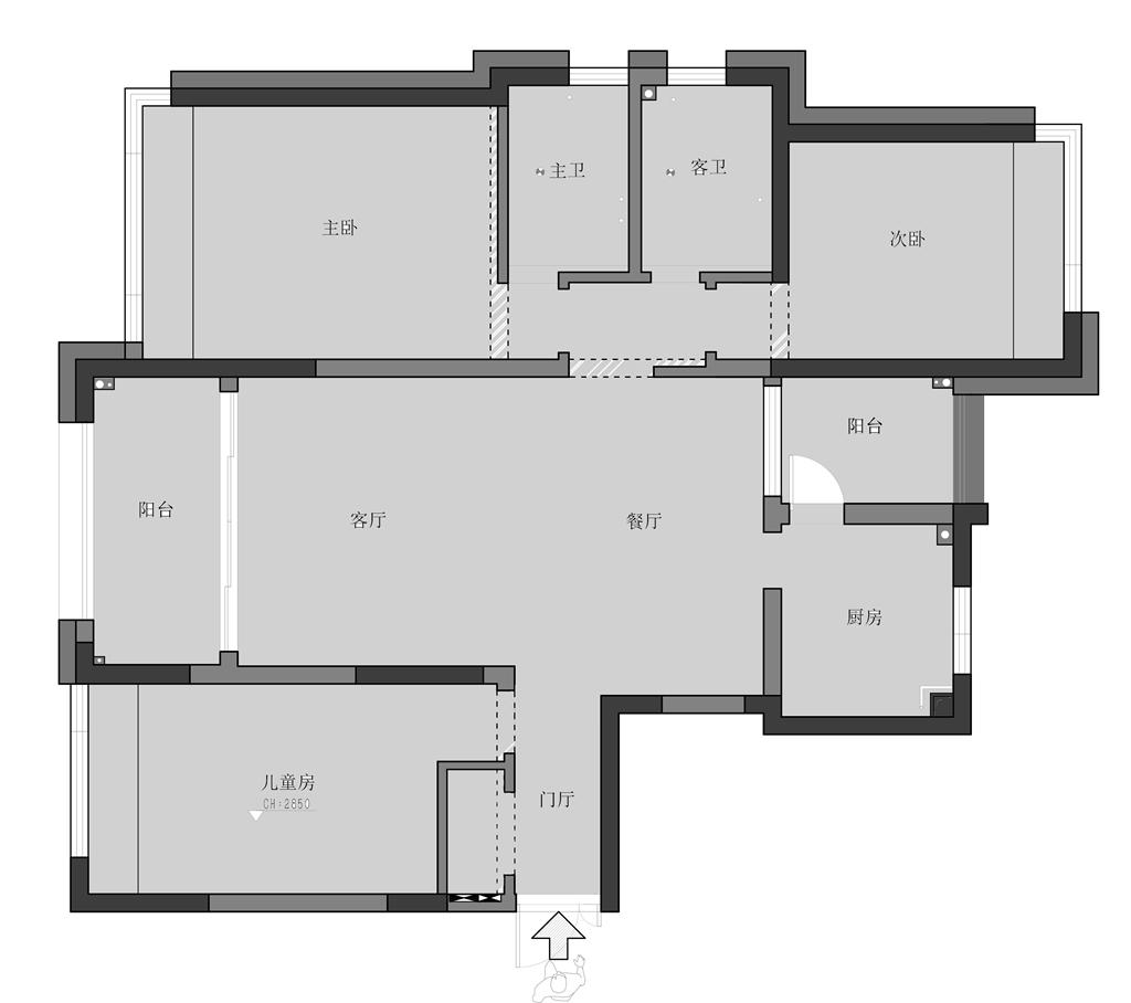上府名园 现代简约 132㎡装修设计理念