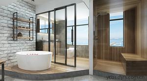《深圳家装效果图》卫浴间方位设计,卫浴间风水禁忌