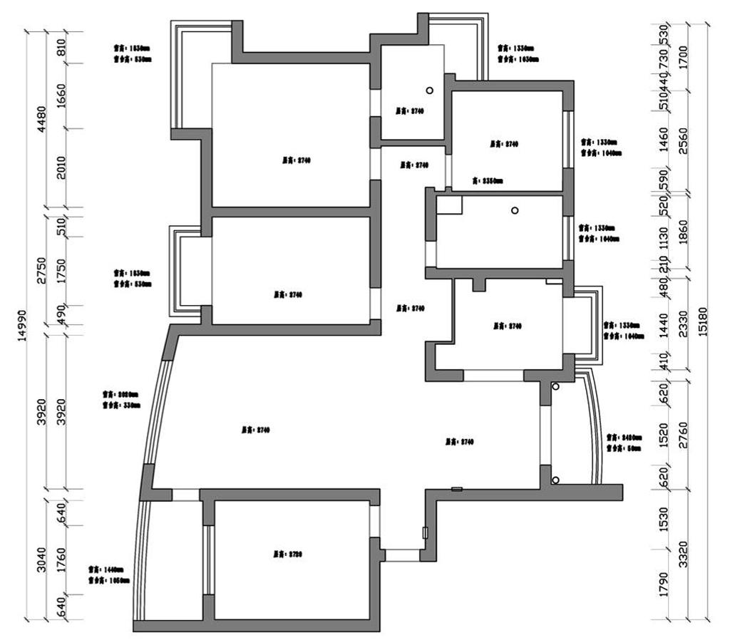 金洋十方庭现代美式风格140平三居室装修设计理念