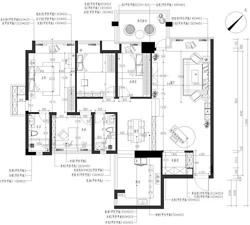 南城景湖湾畔装修案例-158㎡现代简约四房二厅装修效果图装修设计理念